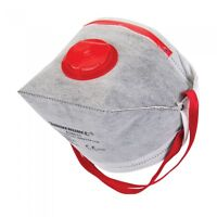 Carbon Dust Mask Respirator Fold Flat Valved FFP3 Activated Safety Filter 656631