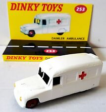Vintage 1960's DINKY TOYS 253 DAIMLER AMBULANCE Diecast Model & Custom Display