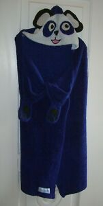 """Youth Panda Bear Hooded Navy Polyester Snuggie One Size/Wearable Blanket/50""""x36"""""""
