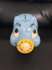 Vintage 1960s Revell Inc. Pig Piggy Bank W/Combination Nose RARE!! *Ving Fuller