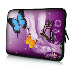 "Pink 3 Butterfly 12 inch Laptop Notebook Sleeve Case Bag For 11.6"" HP Chromebook"