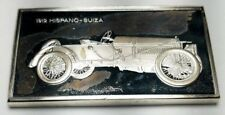 1975 STERLING FRANKLIN MINT CENTENNIAL CAR INGOT-1912 HISPANO-SUIZA-1.92 oz
