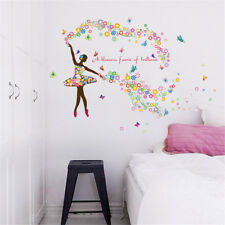Flowers Fairy Dance Room Home Decor Removable Wall Sticker Decal Decoration