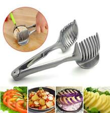 Stainless Steel Potato Slicer Tomato Cutter Tool Shredders Lemon Cutting Holder