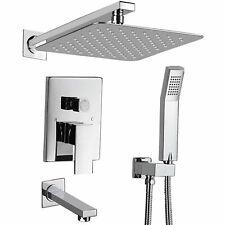 Shower Faucet Set Valve with Tub Spout and 10