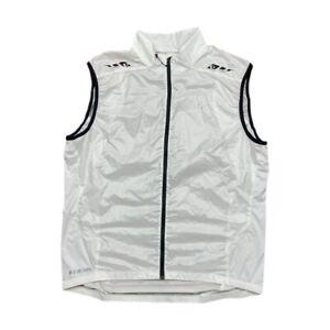 Pearl Izumi Pro Barrier Lite Sleeveless Full Zip White Cycling Vest Men's XL EUC