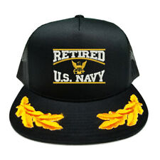 RETIRED U.S. NAVY SCRAMBLED EGGS YUPOONG CAP HAT