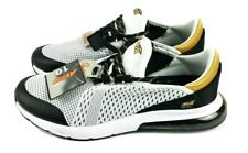 New AVIA Men's O2 Air Athletic Shoes White Black Gold Sneakers NWT Size 10