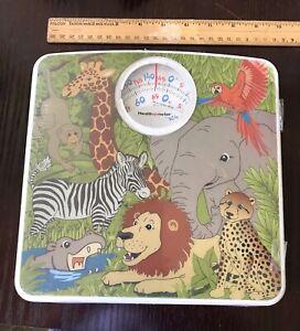 NEW Kids Health O Meter Jungle Animal Safari Bathroom Scale w Growth Chart