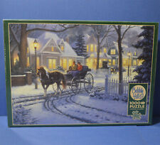 HORSE DRAWN BUGGY 1000 Piece Puzzle COBBLE HILL  Poster Included New Sealed