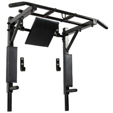 Pull Up Bar and Dip Station Wall Mounted Chin Up Bar Indoor Home Gym