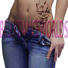FLOWER PAINTING TEMPORARY TATTOO ARM LEG THIGH BELLY STOMACH BODY ART STICKER