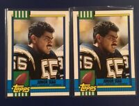 1990 Topps Traded # 28 T JUNIOR SEAU Rookie Lot 2 RC CHARGERS HOF !   WOW