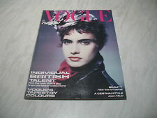 Vogue magazine # 1985 August UK issue cover by Paolo Roversi