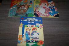 3 Vintage Raggedy Ann & Raggedy Ann Paperback Books