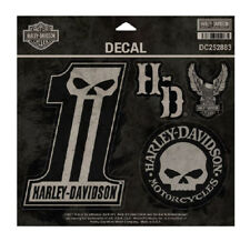 Harley-Davidson Dark Custom Decals, MD 5 Per Sheet, 4 x 5.5 inches DC252883