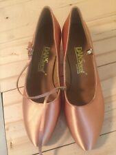 "New DANSport Ballroom Dance Court Shoes 2"" Heel UK Sz 5, US Sz 7.5Diagonal Strap"