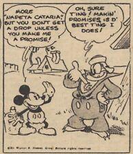 Mickey Mouse Daily Strip - Feb 16, 1931 - VERY RARE Early Floyd Gottfredson art