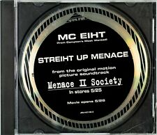 MC EIHT Streiht Up Menace (3 Tracks) PROMO CD JDJ-42138-2