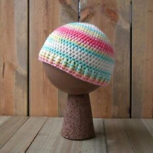 Handmade Crochet Baby Beanie, Colorful Baby Hat