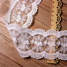 1 Yard Lace Trim Embroidered Cotton Mesh Bridal Sewing Crafts Fabric Applique