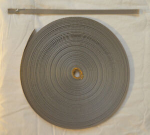 "Webbing - 1/2"" x 16 ft - Light Weight Nylon - Silver (H63)"