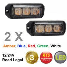 PAIR -RVL G3 LED Directional Warning Light Beacon Grill Recovery Lightbar 12/24V