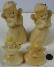 4 Vintage 1950's Christmas Candles Gurley Angles