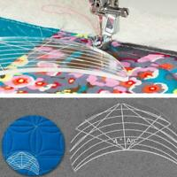 6 x Quilting Template Home Stencil Free Motion Reusable For Machine