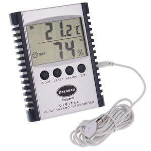 DIGITAL INDOOR OUTDOOR MAX MIN THERMOMETER GREENHOUSE HYGROMETER  - 13/420/3
