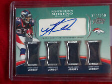 Knowshon Moreno Quad Game Used Swatches with Topps Certified Autograph #114/150