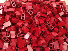 20 LEGO Brand New 1 x 2 Dark Red Brick Bricks Part Number 3004 Add On Item