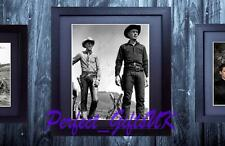 STEVE MCQUEEN YUL BRYNER FRAMED & MOUNTED SIGNED 10x8 REPRO PHOTO PRINT