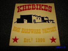 1 AUTHENTIC KHE BIKES BMX HARDWARE FACTORY EST.1988 STICKER #1 / DECAL AUFKLEBER