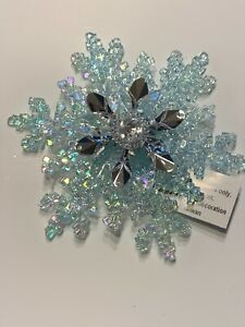 Bath And Body Works Blue Snowflake 3 Wick Candle Magnet Topper