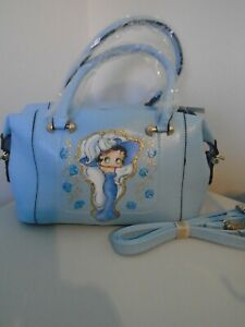 """NEW GORGEOUS BABY BLUE  """"  BETTY BOOP """" PICTURE SHOULDER BAG"""
