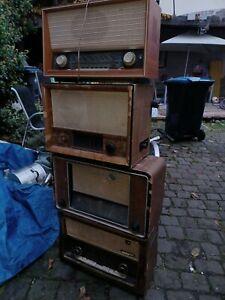 4 Alte Röhrenradio Blaupunkt Grundig Graetz Röhren Radio