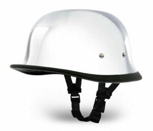 Daytona German Novelty Motorcycle Helmet REAL CHROME - Select your Size
