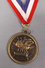 "Lot Of 10 or Orthographe Abeille Médaille avec Rouge/Blanc/Bleu Cou Ruban 2 """