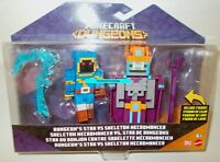MINECRAFT Dungeons STAX vs SKELETON NECROMANCER Figure 2 Pack 2021 READ LISTING!