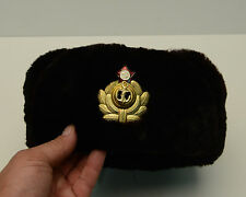 Vintage Ushanka  Military hat, winter hats Russian Army Black