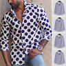 Men's Polka Dot Printed T Shirt Long Sleeve Shirt Shirt Tee Blouse Party Shirts