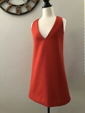Stylestalker Red Over Sized Mini V Neck Loose Fitting Dress Size XS