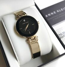 Anne Klein Watch * 3236BKGB Diamond Black Dial Gold Steel for Women COD PayPal