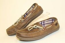 L.L. Bean 301104 Womens 7 Medium Handsewn Leather Slippers Moccasins House Shoes
