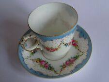 ANCIENNE TASSE A MOKA CAFE EN PORCELAINE DE PARIS 19 EME n°1