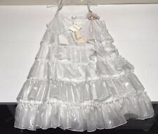 MONNALISA New Girls Teen SILVER TIER STRAP RUFFLE DRESS Sz: 16 RTL: $369 P720