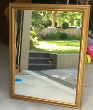 Wall Mirror & Frame, muted gold & pale green coloured frame,Chic, 122cm x 93cm