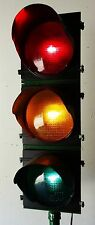 "Traffic Signal Light on Pole Red 12"" LENSES Wired"