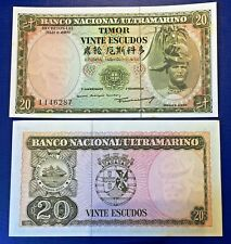 Portugal Timor 20 escudos 1967 Regulo D. Aleixo - P26 - UNC - with faint stains